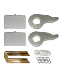 "Lift Kit Chevy Black Torsion Keys & 4"" Aluminum Blocks 1988 - 98 6 Lug Truck & Suv"