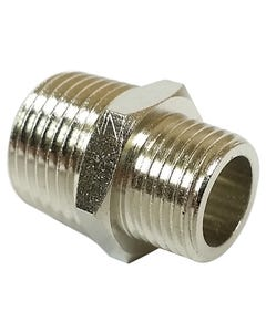 "Straight Male Thread Connector Air Hose Fitting 1/2"" Male NPT x 3/8"" Male Npt 1"