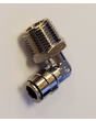 """90 Degree Elbow Brass Push to Connect Air Hose Fitting 1/2"""" NPT x 3/8"""" Tube"""