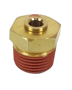 """Straight Brass Push to Connect 1/2"""" NPT x 1/4"""" Tube"""