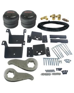 Level Lift Kit 2011-17 Chevy 8 Lug Truck Front Torsion Keys & Rear Air Suspension