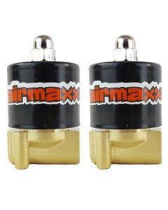"2 Brass Valves 1/4""npt Air Suspension airmaxxx"