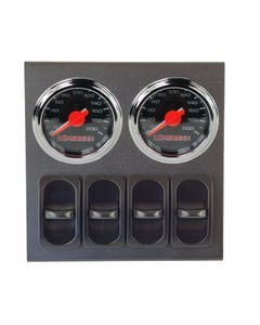 airmaxxx Dual Needle Black Air Suspension Gauges, Panel & 4 Paddle Switches