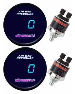 2 airmaxxx Digital Air Ride Suspension Gauges Tinted LED