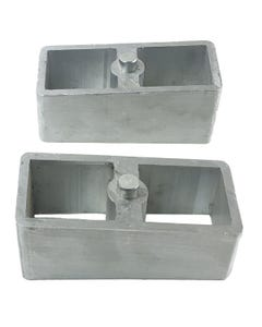 "Lift Blocks 3"" Aluminum Pair For Rear Axle 1988-1999 Chevy Suburban Tahoe Yukon"