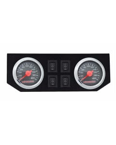 airmaxxx Dual Needle Air Ride Suspension Black Gauges, Display Panel & 4 Rocker Switches