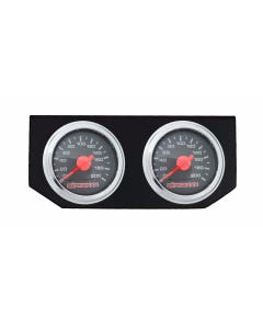 Dual Needle Air Ride Suspension Gauges & Double Display Panel, Black Face airmaxxx