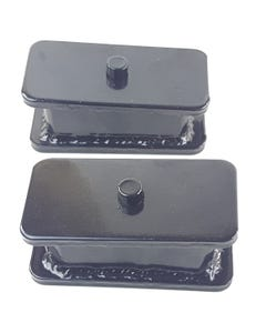 """2"""" Fabricated Steel Lowering Blocks Pair For Rear Axle 1985 - 2004 Chevy S10"""