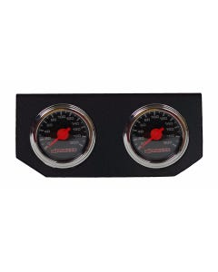 Single Needle Air Ride Suspension Gauges & Double Display Panel, Black Face