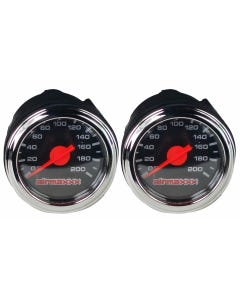 2 Single Needle Air Ride Suspension Gauges 200 psi Black Face airmaxxx