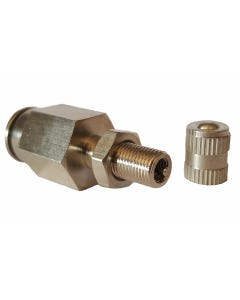 """Straight Compression One Way Check Valve Air Hose Fitting 1/2"""" Male NPT x 1/2"""" Tube"""