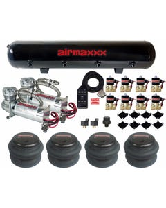 AirMaxxx 480C Chrome Compressors 1/2 Valves 2500 & 2600 Bags Black 7 TOGGLE