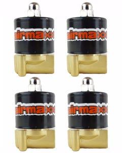 "4 Brass Valves 1/4""npt Air Suspension airmaxxx"