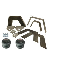 "Rear Universal Weld on 8"" Frame Step Notch Airbag Kit Airmaxxx 2500 bags Bracket"