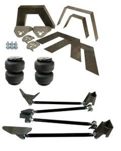 """Rear Universal Weld on Kit 8"""" Frame Notch Triangulated 4 Link Air Lift D2500"""