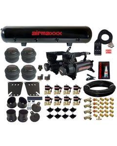 58-64 Impala Air Ride Kit Valves 7 Switch 580 Black Air Compressors Tank