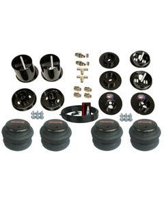 """1965-70 Cadillac Front Rear Air Bag Bracket Mount Kit With 3/8"""" Hose and Fittings"""