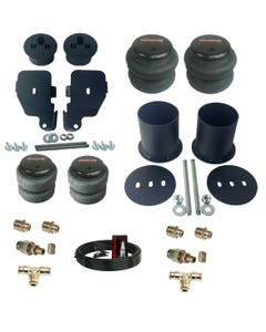 1965-70 Impala / Caprice Front Rear Air Ride Suspension Bag Bracket Kit w 3/8ths hose and fittings