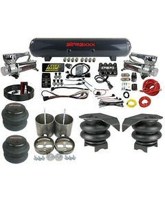 "Complete 99-06 GM 1500 3/8"" Air Ride Suspension Kit 3 Preset Pressure manifold"