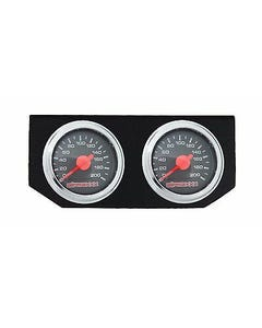 Air Ride Suspension Dual Needle Air Gauges Double Panel Display 200psi No Switch