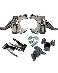 Spindles Shackles Hangers Lowering Kit 1973-87 Chevy GMC C10 2/4 Drop 1.00 Rotor