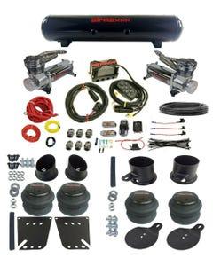"""impala 58-64 3/8"""" airmaxxx Complete Air Ride Kit 480 Chrome Compressor 5 Gal"""