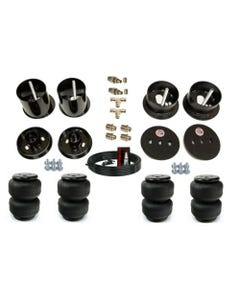"""1961-62 Cadillac  Front And Rear Air Suspension Bag And Bracket Kit 3/8"""" Hose And Fittings"""