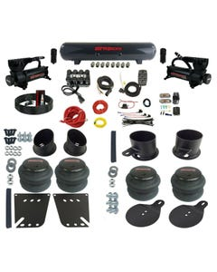 Complete Bolt on Air Ride Suspension Kit 58-64 GM Cars Manifold Valve Bags Steel