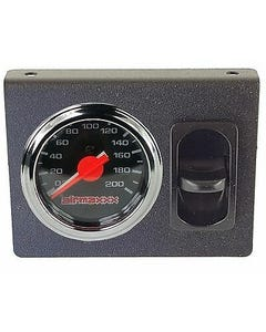 Air Ride Suspension Dual Needle Air Gauge Panel 200psi 1 Paddle Switch Control