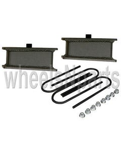 "rear axle drop kit 2"" fab steel lowering blocks ubolts for 98-older import truck"