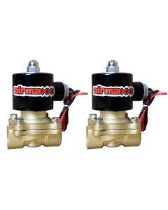 """(2) 3/8""""npt Brass Air Valves airmaxxx"""