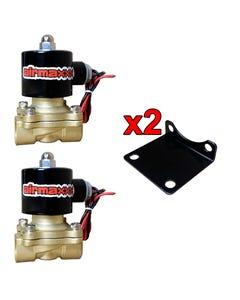 "Two AirMaxxx 3/8"" Brass Valves"