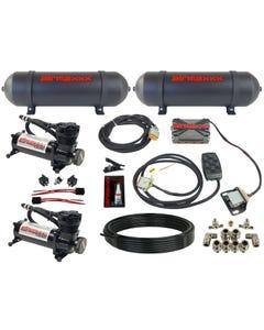 airmaxxx 480 black air compressors, seamless aluminum tanks, X4 valve manifold & 7 switch box