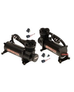 airmaxxx 480 Black Air Ride Suspension Compressors (Dual Pack) Includes 90on /120 off Pressure Switch and Relay