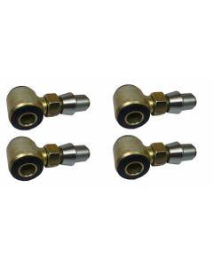 """3/4"""" 4 Bar Rod End Urethane Bushings 5/8"""" thru-bolt 1.25"""" Weld in Bung 1 Set"""
