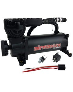 airmaxxx 580 Black Air Ride Compressor Single with 90/120 pressure switch