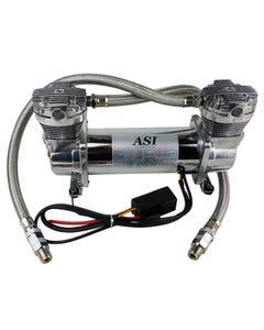 ASI Hydra Air Compressor Dual Head Chrome Air Ride Suspension