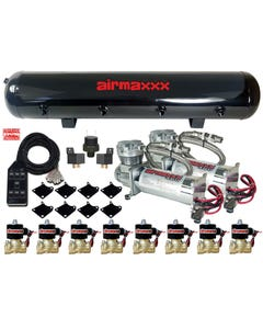 Chrome AirMaxxx 480C Compressors 3/8 Valves Air Ride 2600 Bags Black 9 TOGGLE