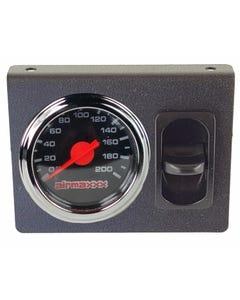 Air Ride Suspension Single Needle Black Gauge, Panel & 1 Paddle Switch airmaxxx
