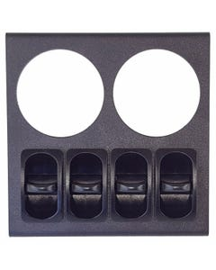 Dual Air Ride Suspension Gauge Mounting Panel & 4 Paddle Switches