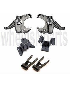 Drop Spindles Shackles Hangers 2/4 Lowering Kit For 1973-87 Chevy C10 1.25 Rotor
