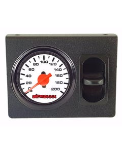 Air Ride Single Needle Air Gauge White 200 psi, Panel & 1 Paddle Switch Control
