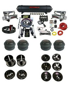 3 Preset Complete Bolton Air Ride Suspension Kit Cadillac 65-70 Manifold Chrome
