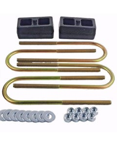 """Lift Kit Rear 2"""" Cast Steel Blocks & U Bolts 1998 - 10 Ford Ranger 4X4 4X2"""