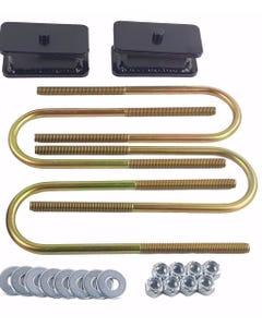 """Ranger Lift Kit Rear 2"""" Fabricated Steel Blocks & U Bolts 1998-2011 Ford"""