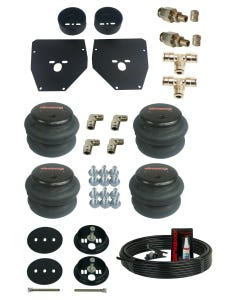 """1963-72 C10 Front & Rear Bolt In Air Bags and Brackets With 3/8"""" Hose & Fittings"""