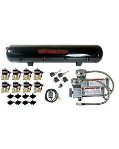 "Air Ride Air Compressors 400 Pewter AirMaxxx 1/2""npt Valves Black 7 Switch Tank"