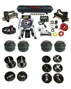 3 Preset Pressure Complete Bolt Air Ride Suspension Kit 65-70 Cadillac 480 Black