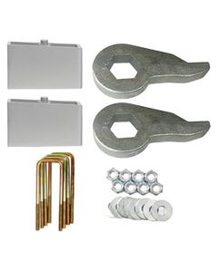 "Lift Kit Chevy Black Torsion Keys & 3"" Aluminum Blocks 1988 - 98 6 Lug Truck & SUV"