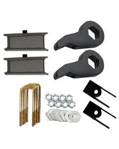 """Lift Kit Chevy 99-06 1500 4X4 Forged Torsion Keys 2"""" Fab Steel Blocks Shock Ext"""